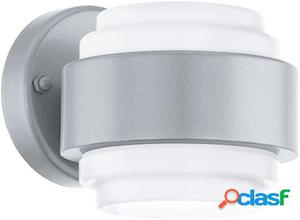 Wellindal Led aplique de exterior 2 luces Silber y Blanco