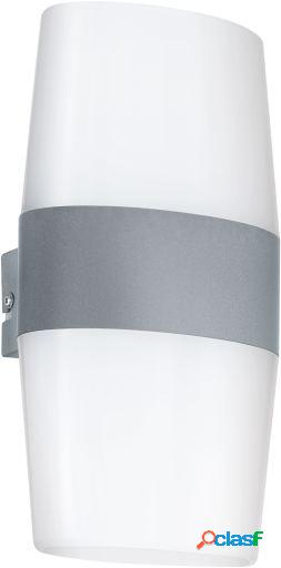 Wellindal Led aplique de exterior Blanco y plata Ravarino