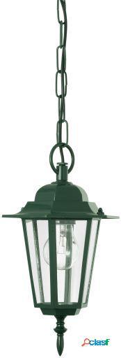 Wellindal Lámpara Colgante de exterior 1 luz E27 Verde