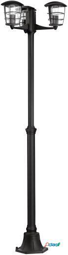 Wellindal Lámpara de Pie Exterior y 3 Negro Oria