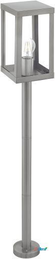 Wellindal Lámpara de Pie exterior 1 luz E27 Acero