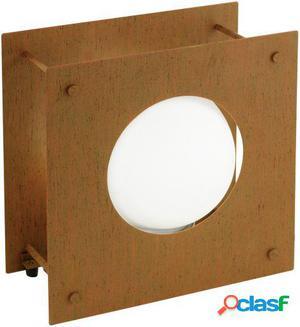 Wellindal Lámpara de Pie exterior 1 luz E27 Rostfarben y