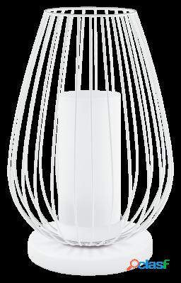 Wellindal Sobremesa Led 1 luz Blanco y Cromo Vencino