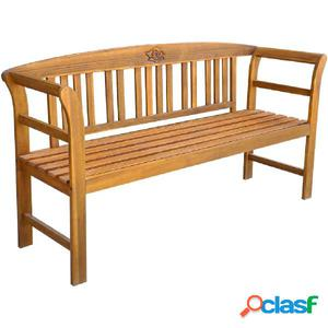 Banco de jardín de madera maciza de acacia 157x45x82,5 cm