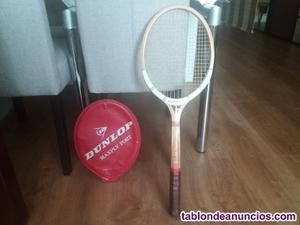 Raqueta tenis en madera dunlop maxply
