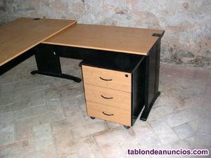 Mesa despacho con ala y buc