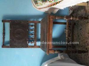 Se venden 17 sillas antiguas, varios modelos