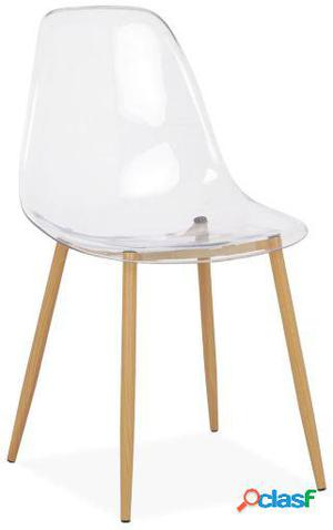 Wellindal Silla tower wood clear edition transparente