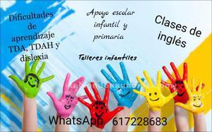 Clases de apoyo escolar y clases de inglés