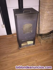 Estufa de leña con horno incluido