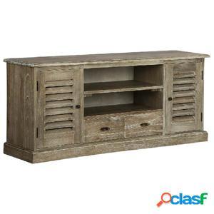 Mueble para la televisión de madera mindi maciza 145x35x60