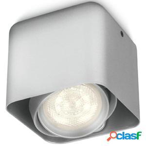 Philips myLiving Foco LED cubo Afzelia 4,5 W plateado