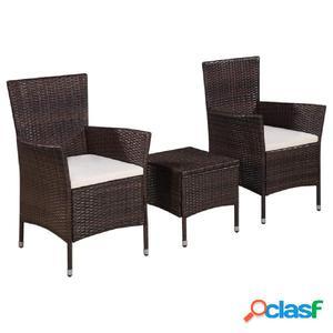 Set mesa y sillas bistro de exterior de ratán sintético