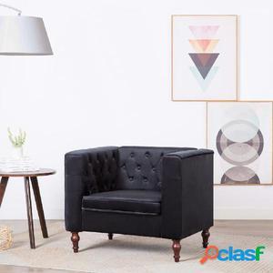 Sillón tapizado de terciopelo 86x67x71 cm negro