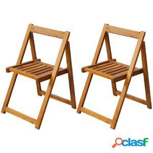 Sillas plegables de exterior 2 unidades madera de acacia