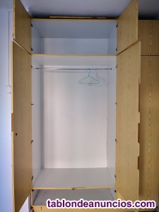 Armario beige con altillo, de 1. 50 m de ancho