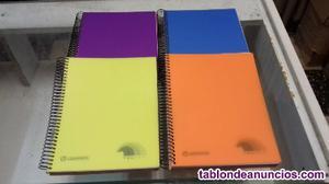 Cuadernos de medio folio de colores