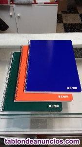 Cuadernos enri tapas de colores
