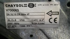 Venta de motores de extracción nuevos y usados en Madrid,