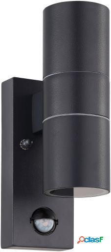 Wellindal Aplique de exterior 2 luces con Sensor Antracita