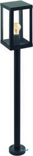 Wellindal Lámpara de Pie exterior 1 luz E27 negro y claro