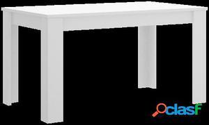 Wellindal Mesa de comedor Dine extensible 140-191 cm Blanco