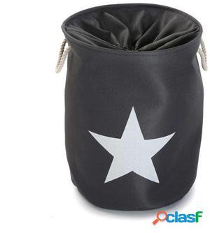 Wellindal cesto ropa estrella gris claro
