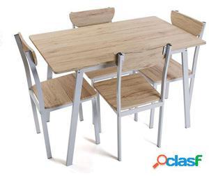Wellindal juego mesa y cuatro sillas