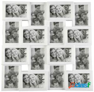 Wellindal portafotos 16 ventanas blanco 59,3x3x59,3