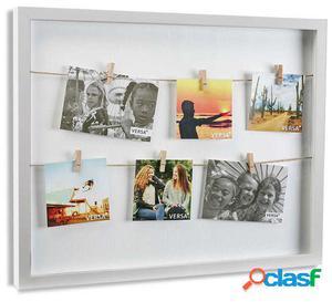 Wellindal portafotos con pinzas bl 33x43