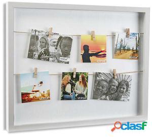 Wellindal portafotos con pinzas bl 40x50