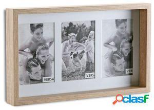Wellindal portafotos triple 20x25 madera