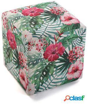 Wellindal taburete cubo flores 3
