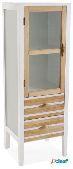 Wellindal vitrina 2 cajones+puerta zen