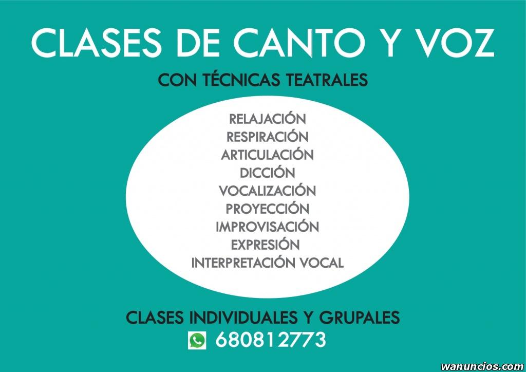 Clases de Canto y Voz Escénica - Madrid