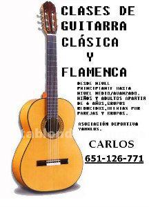 Clases de guitarra clasica y flamenca