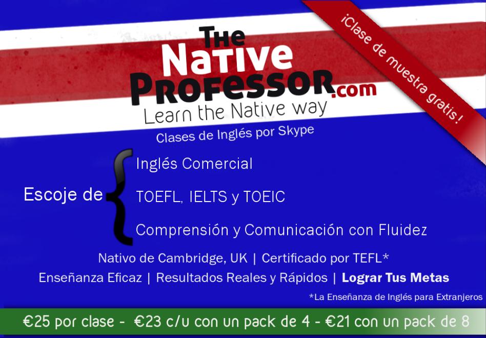 Clases de inglés por Skype con profesor nativo de Cambridge