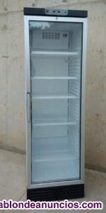 Frigorífico puerta cristal 390 litros