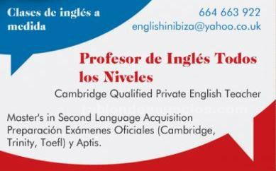 Inglés en ibiza - profesor particular todos los niveles -