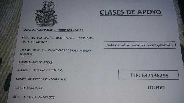Licenciada con gran experiencia IMPARTE CLASES PARTICULARES