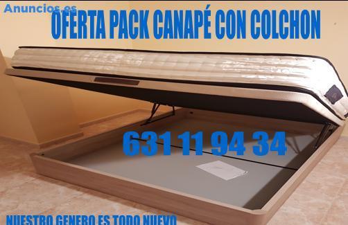 OFERTON!!! PACK CANAPE Y COLCHON PRECIOS DE FABRICA