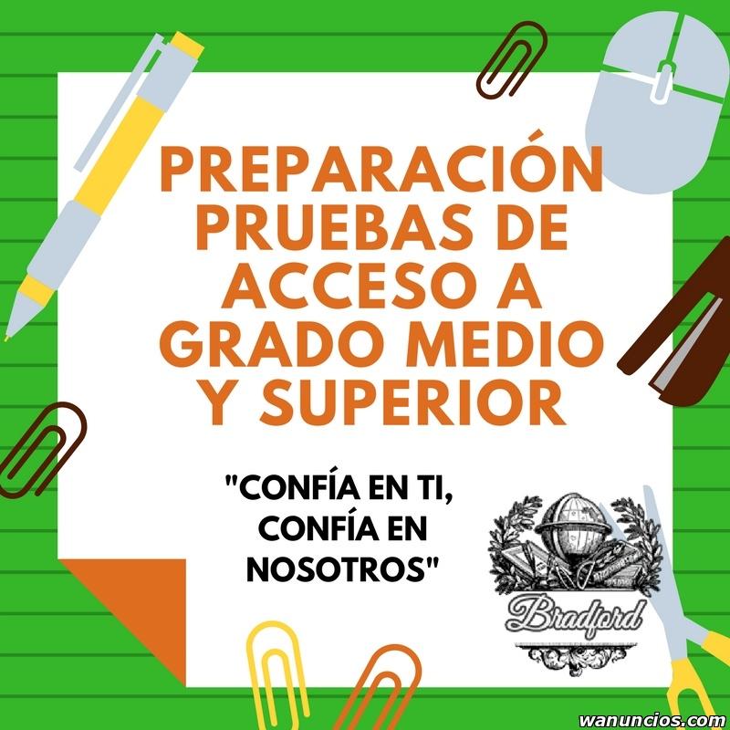 PREPARACIÓN PRUEBAS DE ACCESO A GRADOS - Madrid
