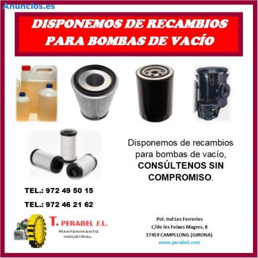 RECAMBIOS PARA BOMBAS DE VACÍO