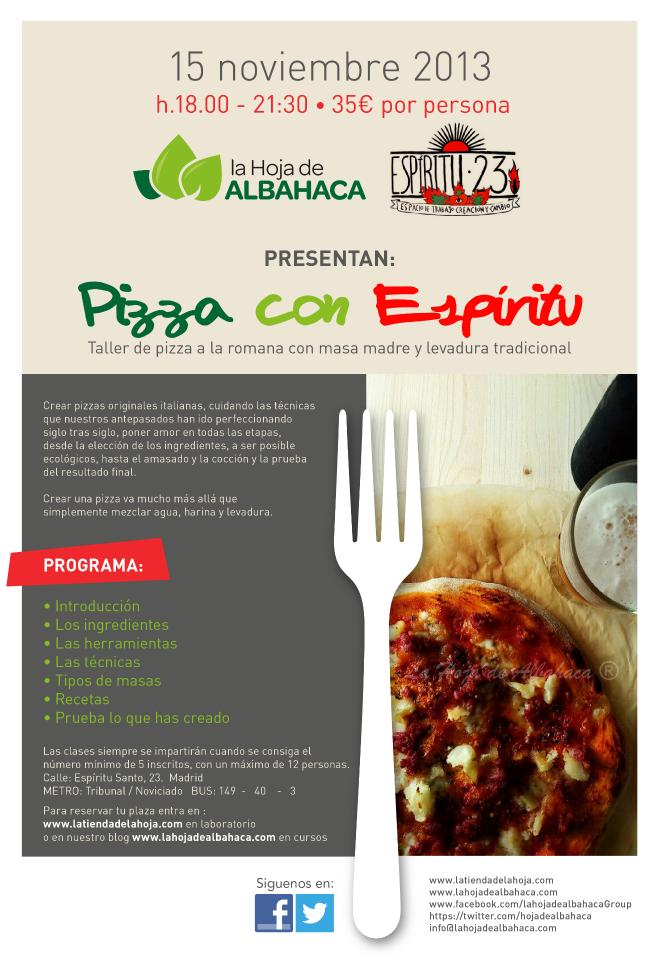 Taller de pizza a la romana - Madrid