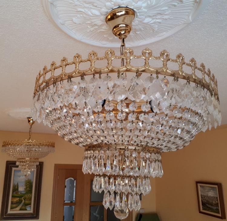 2 Lámparas de cristal