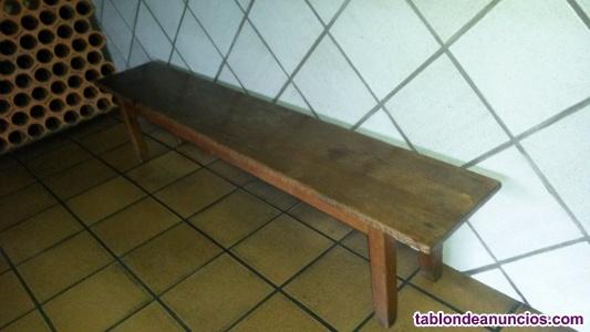 Banco de madera roble macizo 2 metros