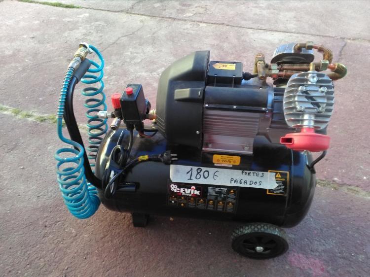Compresor Marca Cevik de 3HP de potencia