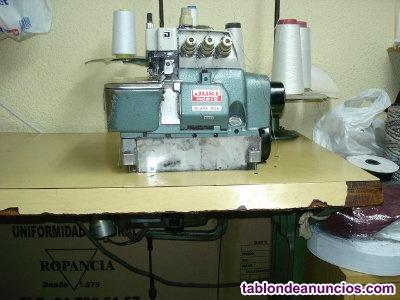 Maquina de coser refrey- md 922 doble arrastre y remalladora
