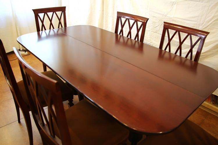 Mesa de comedor clásica plegable de libro 2 patas