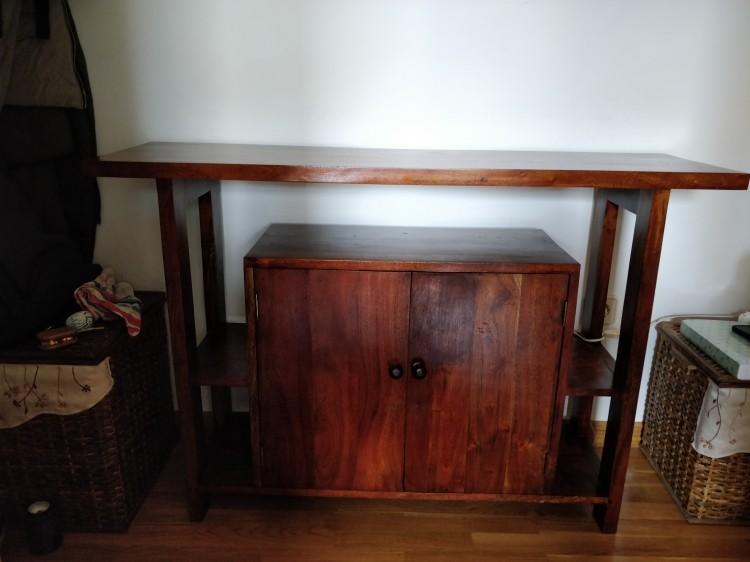 Mueble madera entrada